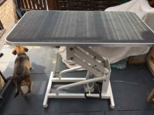 Adjustable height diy dog grooming table
